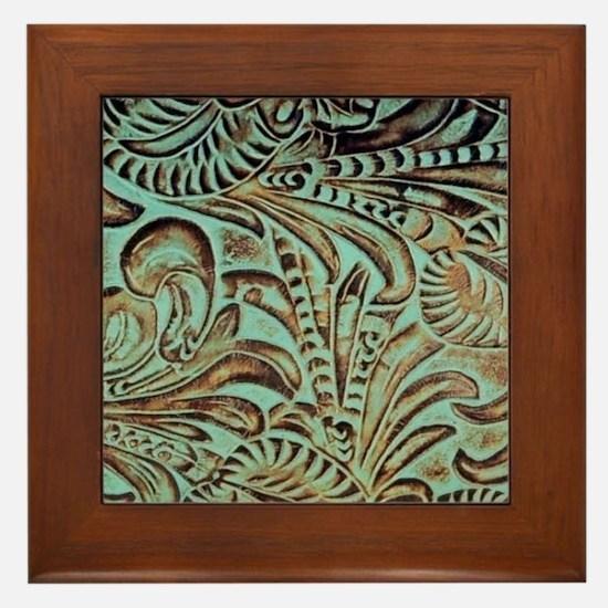 Unique Western art Framed Tile