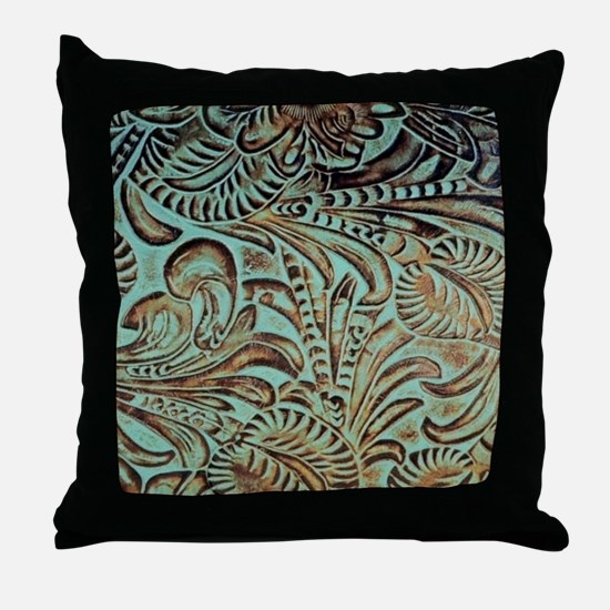 Cute Leather Throw Pillow