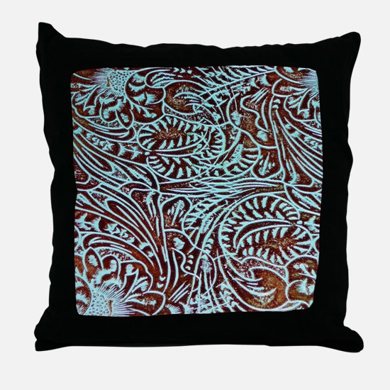 Unique Leather Throw Pillow