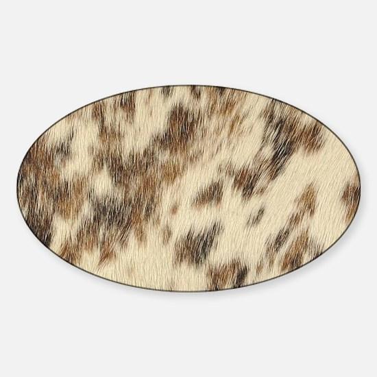 Unique Horse patterns Sticker (Oval)