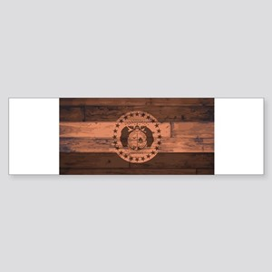 Missouri State Flag Brand Bumper Sticker
