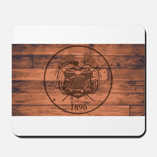 Utah State Flag Brand Mousepad