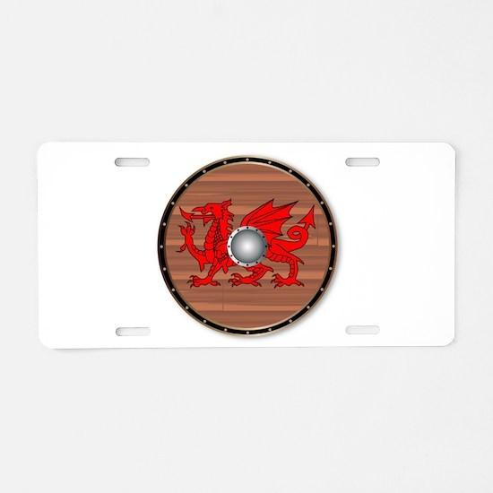 Round Celt Shield Aluminum License Plate