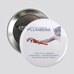 "The Creation of Plumbers 2.25"" Button"