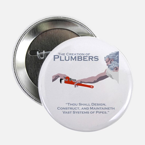 """The Creation of Plumbers 2.25"""" Button"""