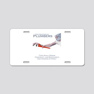 The Creation of Plumbers Aluminum License Plate