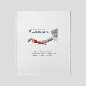 The Creation of Plumbers Throw Blanket