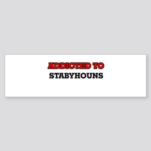 Addicted to Stabyhouns Bumper Sticker