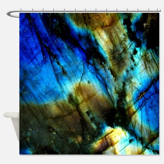 Cool Blue yoga Shower Curtain