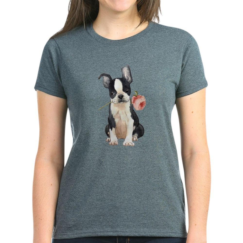 CafePress-Boston-Terrier-Rose-T-Shirt-Women-039-s-Cotton-T-Shirt-1819152060 thumbnail 20