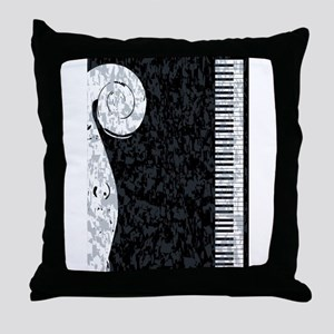 Piano and Violin Throw Pillow