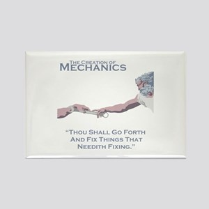 The Creation of Mechanics Rectangle Magnet