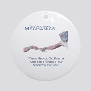 The Creation of Mechanics Round Ornament