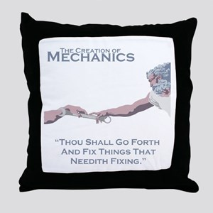 The Creation of Mechanics Throw Pillow