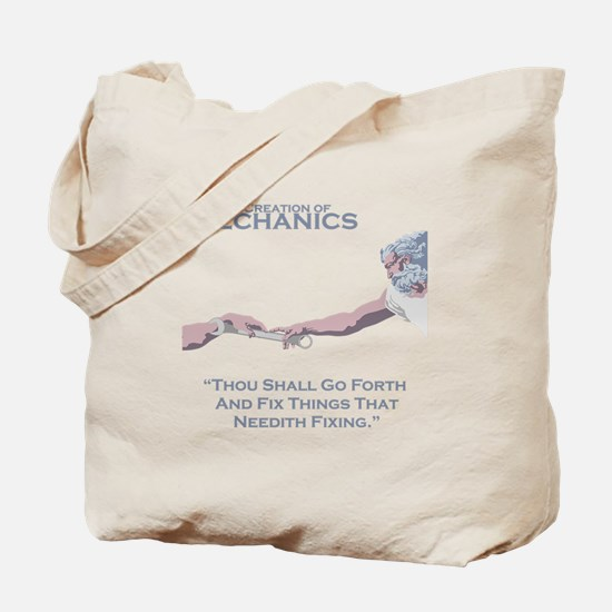 The Creation of Mechanics Tote Bag