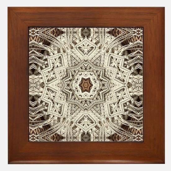 Cute Lace doilies Framed Tile