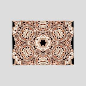 gatsby rosegold art deco 5'x7'Area Rug