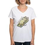 Ce qui ne te tue pas... Women's V-Neck T-Shirt