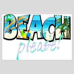 Kids Beach Please! Posters