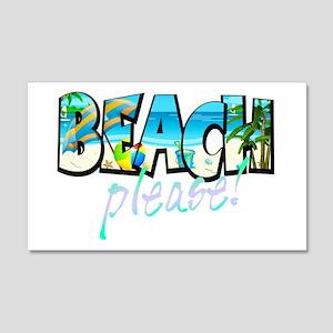 Kids Beach Please! Wall Decal