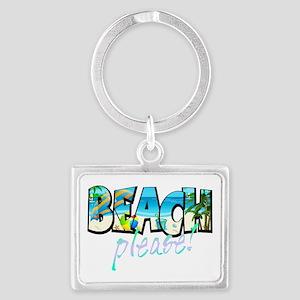 Kids Beach Please! Keychains