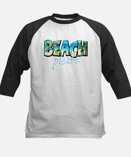 Kids Beach Please! Baseball Jersey