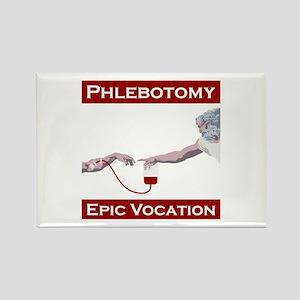 Phlebotomy, Epic Vocation Rectangle Magnet