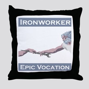 Ironworker, Epic Vocation Throw Pillow