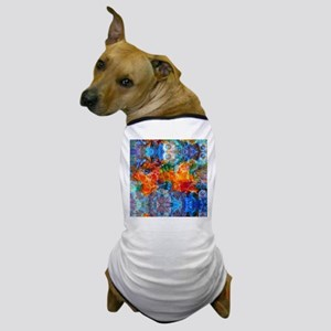 Fire In Haven Colorful Abstract Art Dog T-Shirt