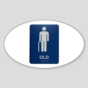 Old Sign Oval Sticker