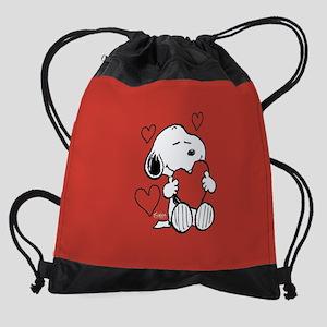 Peanuts: Snoopy Heart Drawstring Bag