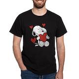 Peanuts valentines day Mens Classic Dark T-Shirts
