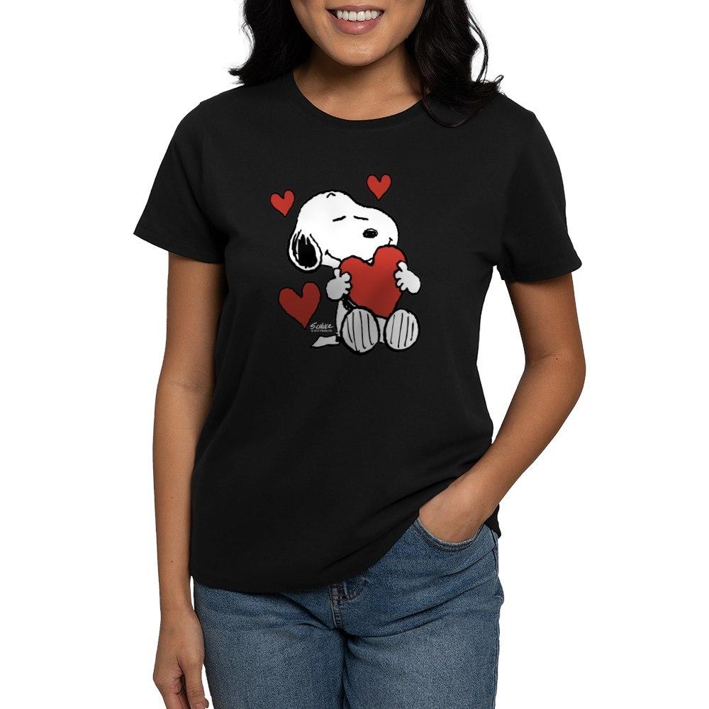 CafePress-Peanuts-Snoopy-Heart-T-Shirt-Women-039-s-Cotton-T-Shirt-181918742 thumbnail 4