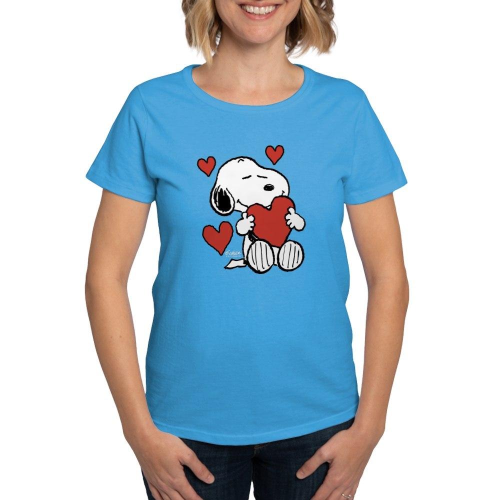 CafePress-Peanuts-Snoopy-Heart-T-Shirt-Women-039-s-Cotton-T-Shirt-181918742 thumbnail 40