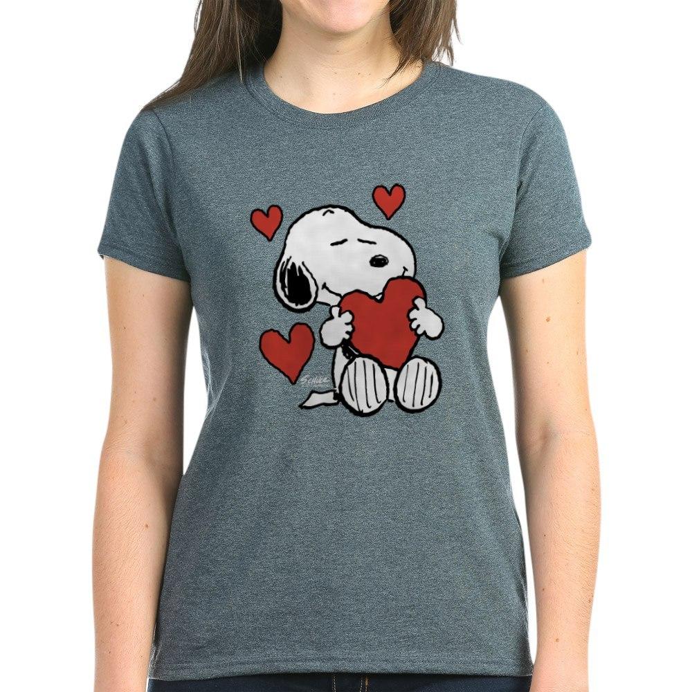 CafePress-Peanuts-Snoopy-Heart-T-Shirt-Women-039-s-Cotton-T-Shirt-181918742 thumbnail 50