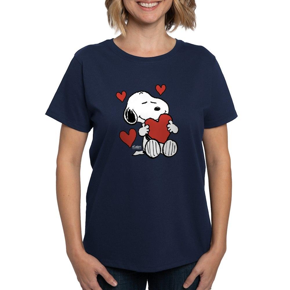 CafePress-Peanuts-Snoopy-Heart-T-Shirt-Women-039-s-Cotton-T-Shirt-181918742 thumbnail 32