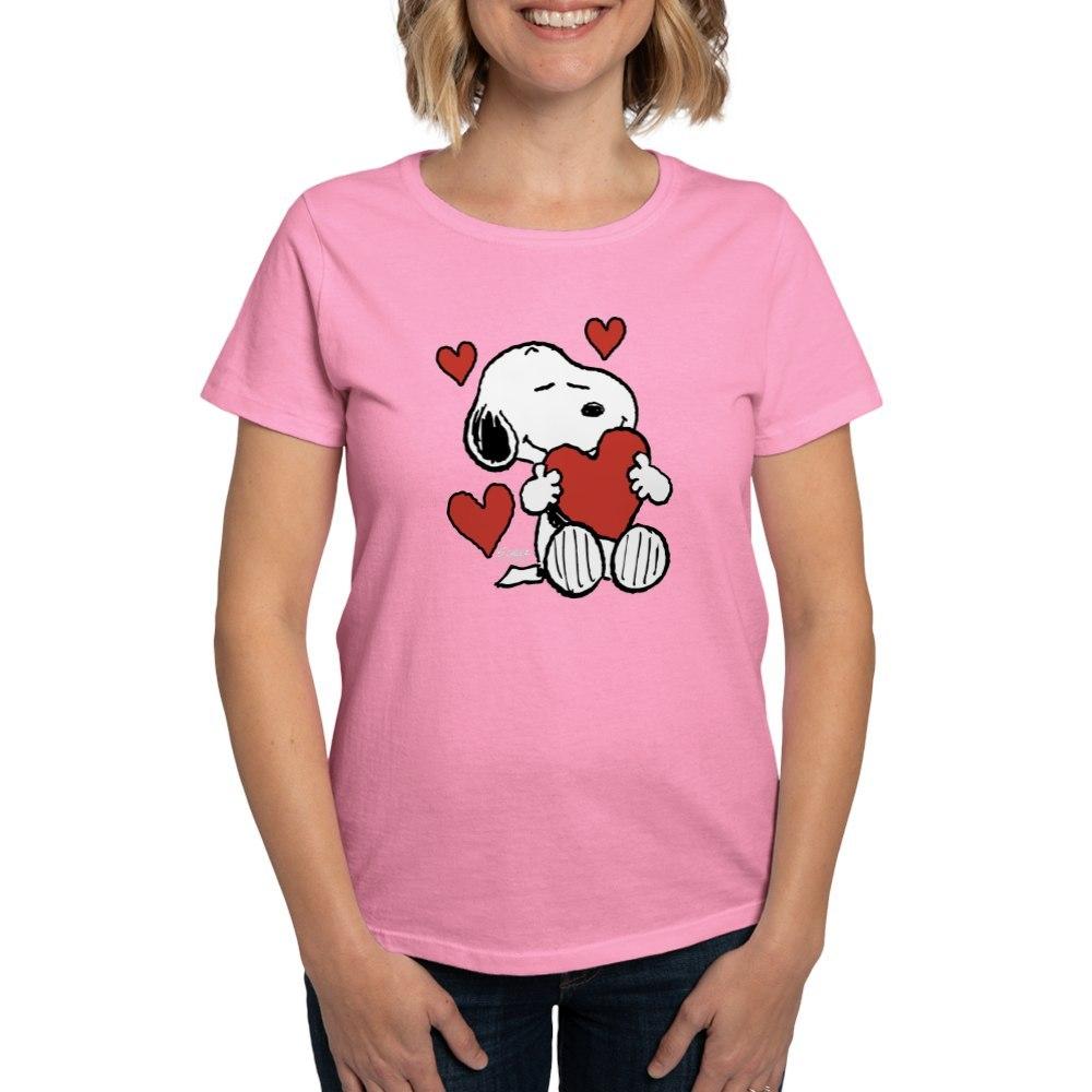 CafePress-Peanuts-Snoopy-Heart-T-Shirt-Women-039-s-Cotton-T-Shirt-181918742 thumbnail 22