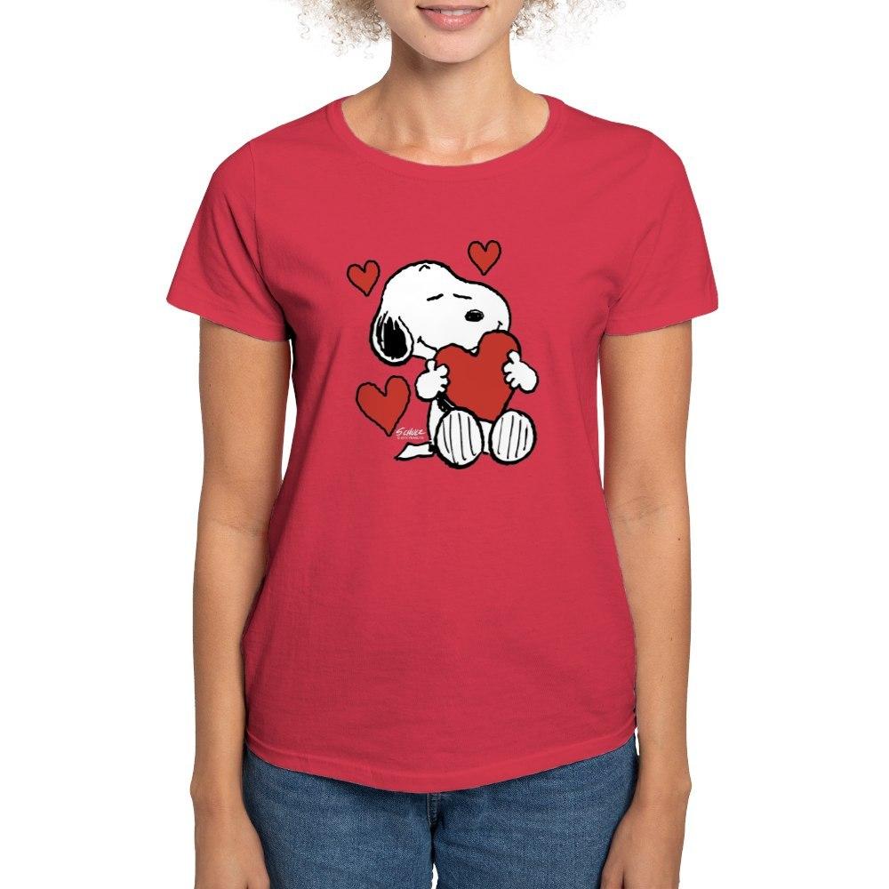 CafePress-Peanuts-Snoopy-Heart-T-Shirt-Women-039-s-Cotton-T-Shirt-181918742 thumbnail 12