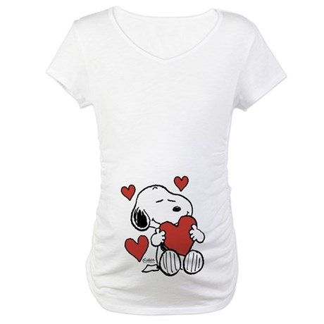 Snoopy On Heart Shirt
