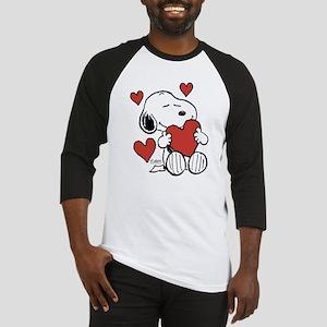 Snoopy on Heart Baseball Jersey