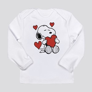 Snoopy on Heart Long Sleeve T-Shirt