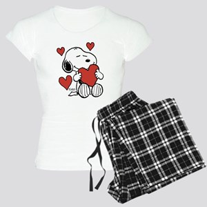 Snoopy on Heart Pajamas