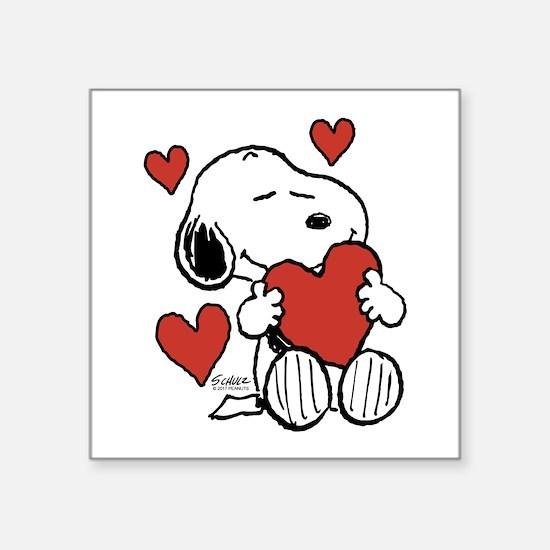 Snoopy on Heart Sticker