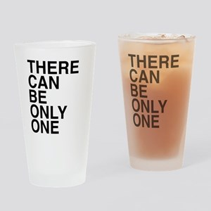 Only One-Helvetica-Dark Drinking Glass