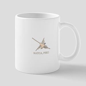 Nazca Hummingbird Geoglyph Newsprint Mugs