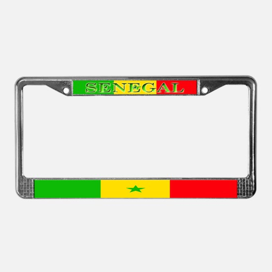 Senegal Blank Flag License Plate Frame