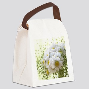 Bouquet of daisies in LOVE Canvas Lunch Bag
