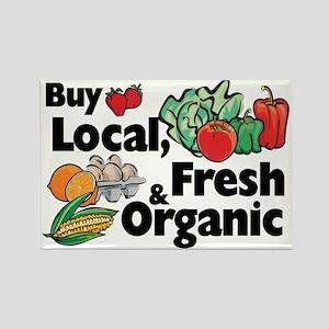 Buy Local Fresh & Organic Rectangle Magnet