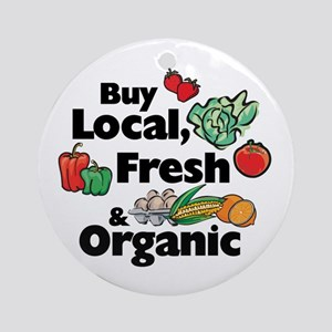 Buy Local Fresh & Organic Ornament (Round)