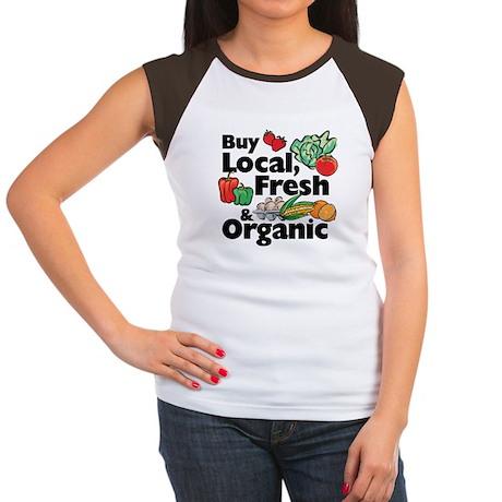 Buy Local Fresh & Organic Women's Cap Sleeve T-Shi